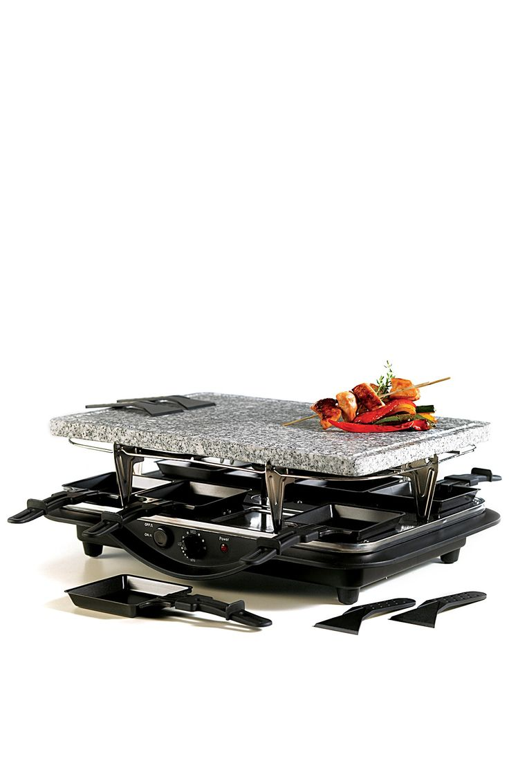 Hf ideas parrillas y asados - Remy Olivier Think Kitchen Dual Raclette Stone Grill Black 109 00