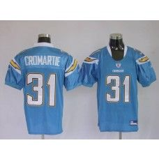 Chargers Antonio Cromartie #31 Stitched Baby Blue NFL Jersey