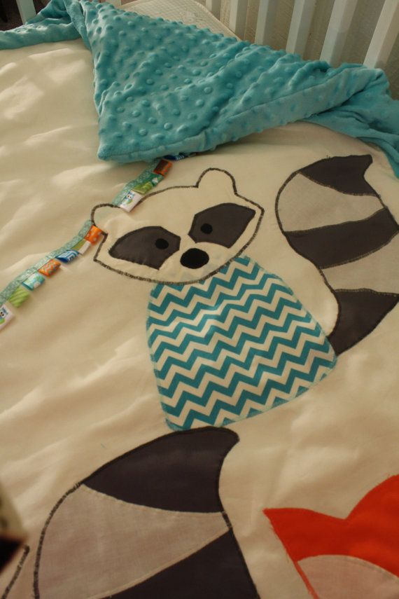 3Piece Fox and Raccoon Baby Bedding by ...