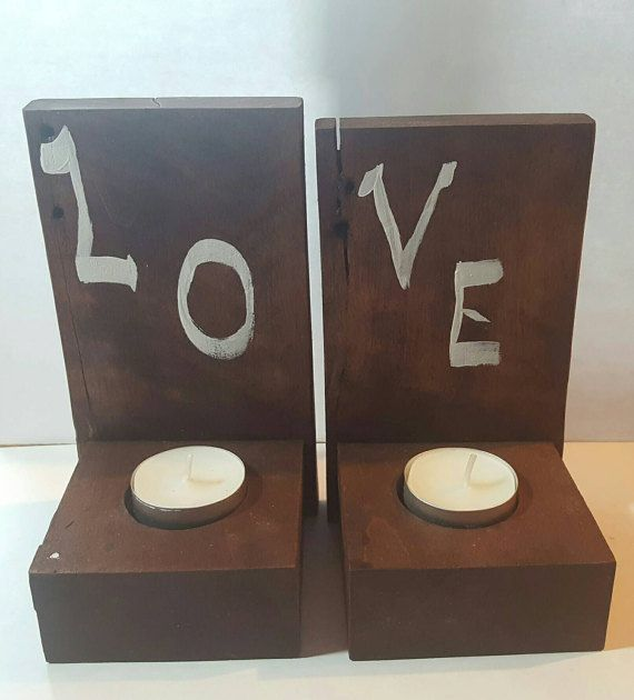 Hanging Love Tealight Candle Holders by OtherworldElements on Etsy