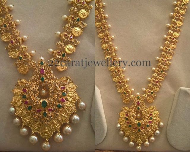 Jewellery Designs: Lakshmi Peacock Trendy Uncut Set