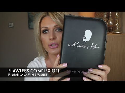 FLAWLESS COMPLEXION - TOO FACED BORN THIS WAY Ft. MALIKA JAFRIN BRUSHES - YouTube
