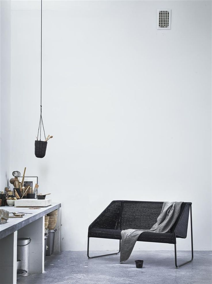 Handwoven Rattan Seat Together With A Steel Frame Radiates Both  Scandinavian Simplicity And The Warmth Of