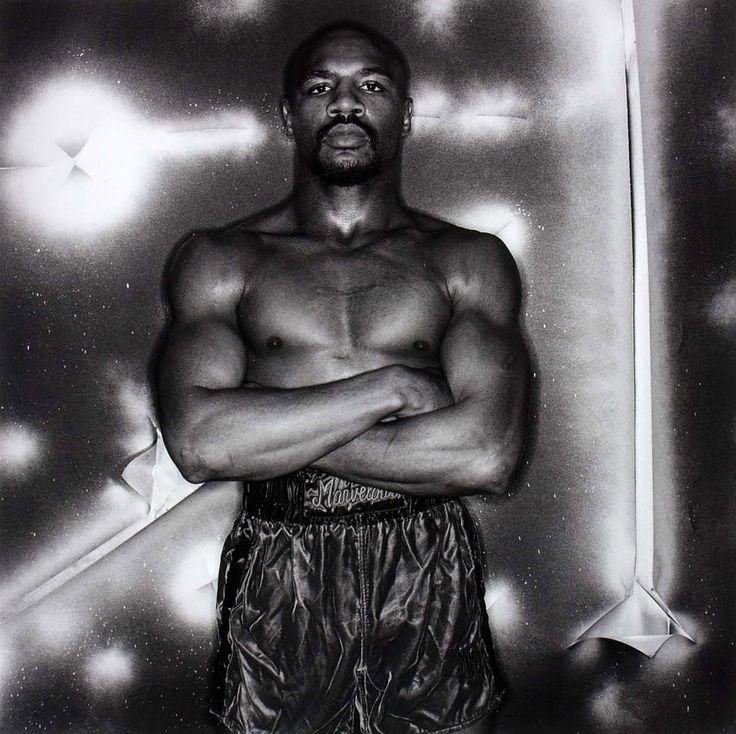 "Anthony Barboza (born New Bedford, MA 1944) '""Marvelous"" Marvin Hagler, boxer' 1981"
