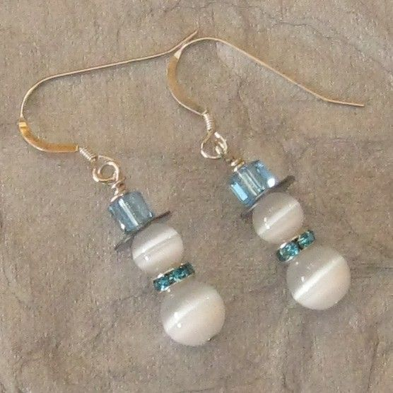 These cute little earrings can be worn all winter long. They are great for young and old alike.    These earrings feature Fiber Optic beads,