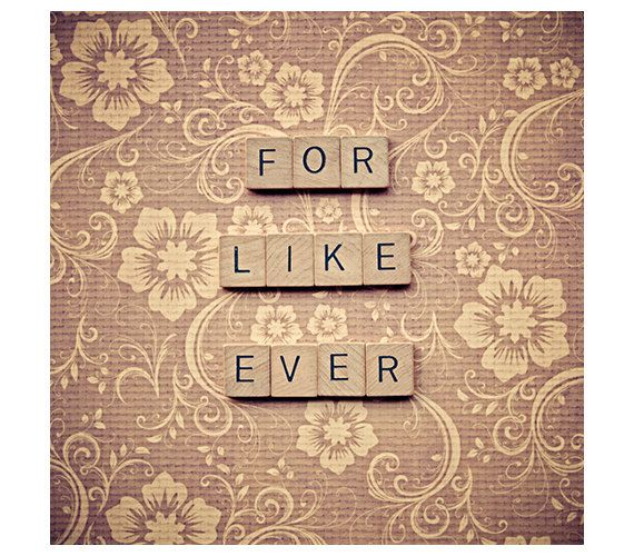 Scrabble photo citation - Saint Valentin - pour comme jamais - citation de lettres scrabble impression - wall art décoration - photo carré