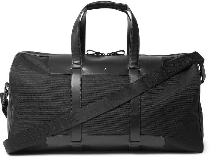 Montblanc Nightflight 55 Leather-Trimmed Shell Cabin Bag
