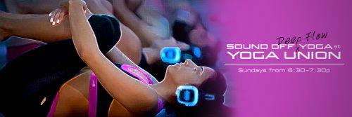 Новые технологии позволяют устраивать самые необычные занятия йогой в местах, где раньше этого было сделать невозможно!   «йога без звука» (англ. sound off yoga) - это практика  йоги,  совмещающая тишину и музыку. Перед началом занятия вам дают специальные беспроводные наушники, в которых вы слушаете инструкции преподавателя во время занятия и диджейский сет.