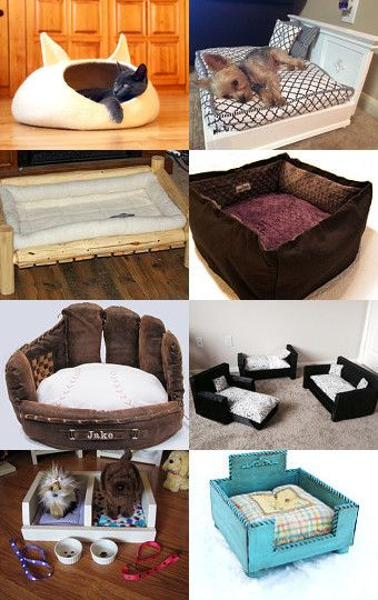 Pet Beds by Dawn Zipper on Etsy--Pinned with TreasuryPin.com