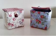 Tutorial Fabric boxes