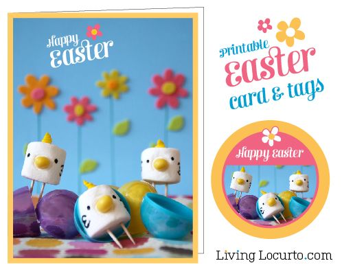 141 best printableseaster images on pinterest decoration crafts free easter card and tags for cupcake toppers or gifts by livinglocurto negle Image collections