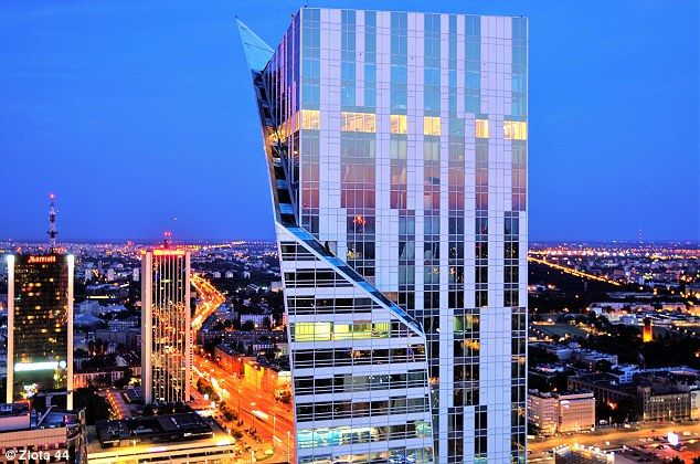 The award-winning development is a 52-storey tower block in Poland's Warsaw....
