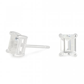 Simply Silver Sterling Silver Rectangle Cubic Zirconia Stud Earring £12