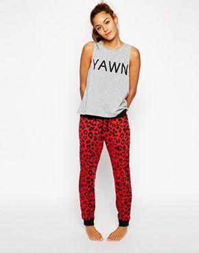 ASOS+Yawn+Vest+&+Jogger+Pyjama+Set