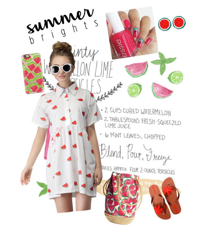 """""""Watermelon style"""" by szabo-b-aniko on Polyvore featuring WithChic, IPANEMA and Casetify"""