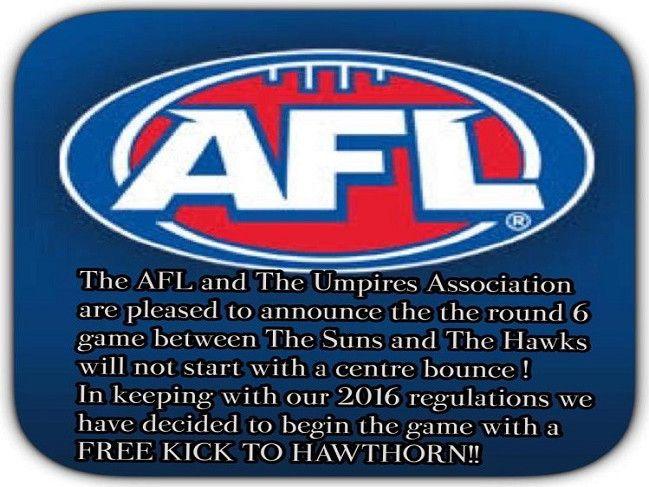 Free Kick Hawthorn - Round 6 lol