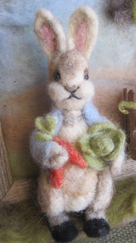 Felted Peter Rabbit tutorial, an amazing wool sculpture!