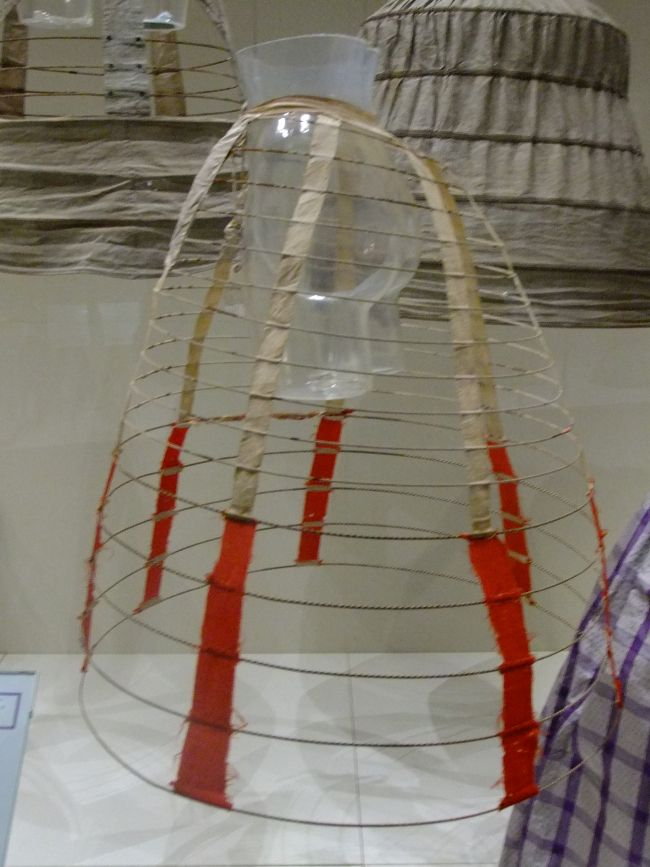 ca.-1860 cage crinoline from Snibston Museum. Picture from ZoeMelissa blog. [jrb]