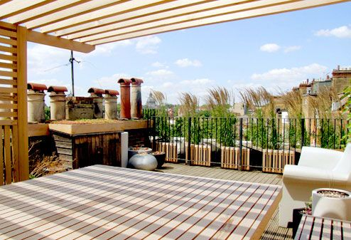 View from pergola on terrace outside spaces pinterest for Terrace pergola