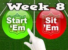 """Start 'Em"" or ""Sit 'Em"" recommendations for Week 8 of the 2017 NFL season"
