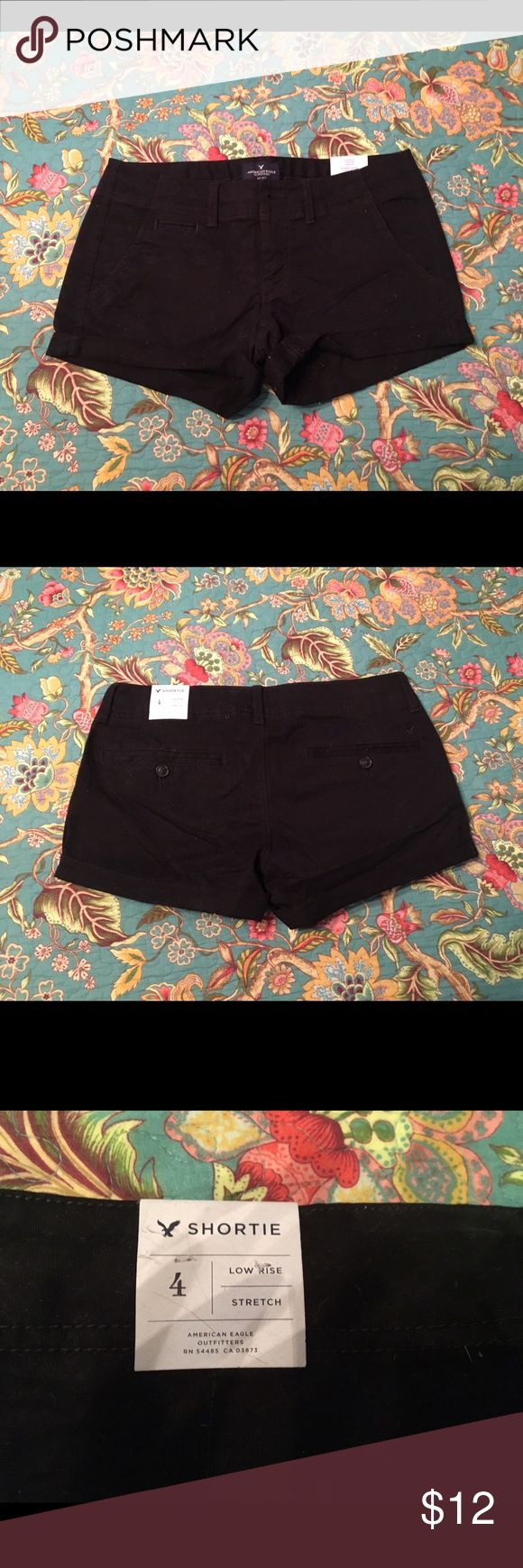 American Eagle Black Chino Shorties. Size 4 - NWT AE black chino shorties. Size 4 - NWT NEVER WORN. American Eagle Outfitters Shorts
