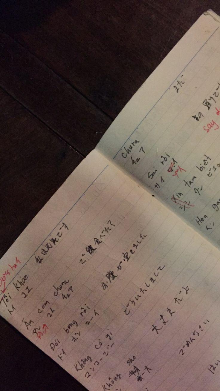 my japonese friend learning how to speak vietnamese