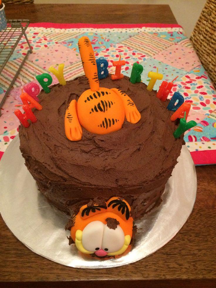 Garfield birthday cake