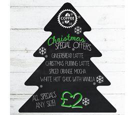 Image of Christmas Tree Chalkboard