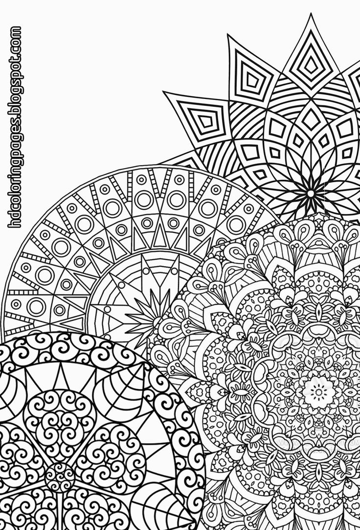 R kelly coloring pages - Super Detailed Mandalas Coloring Pages For Adult
