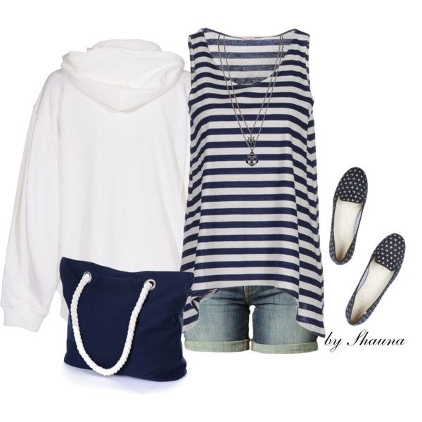 Blue and white nautical by shauna-rogers on Polyvore featuring Acne Studios, A.B, Levi's and Charles Philip Shanghai