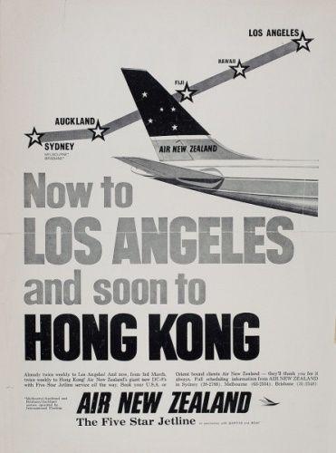 Air New Zealand Flying Social - 1960s Advertising