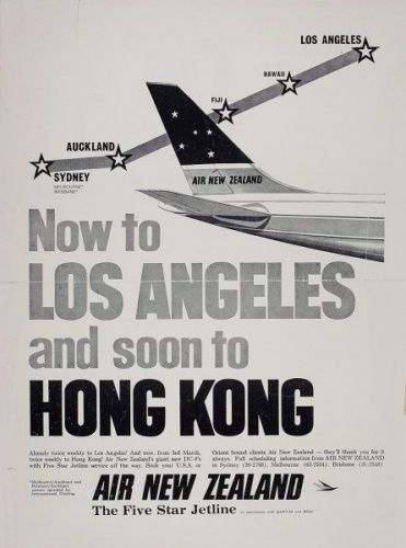 Air New Zealand Flying Social - 1960s Advertising