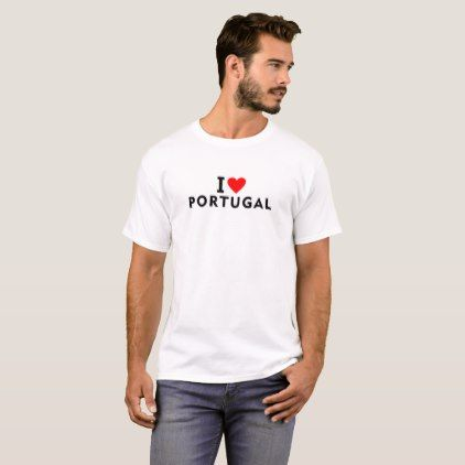 #I love Portugal country like heart travel tourism T-Shirt - #country gifts style diy gift ideas