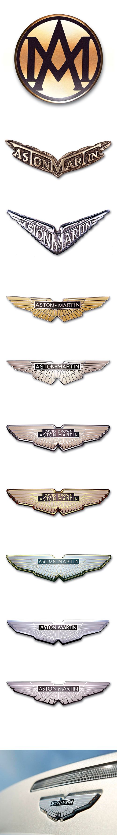 Aston Martin logo evolution Founded in 1913 by Robert Bamford and Lionel Martin as 'Bamford & Martin Ltd.' #AstonMartin #Logo #Heritage