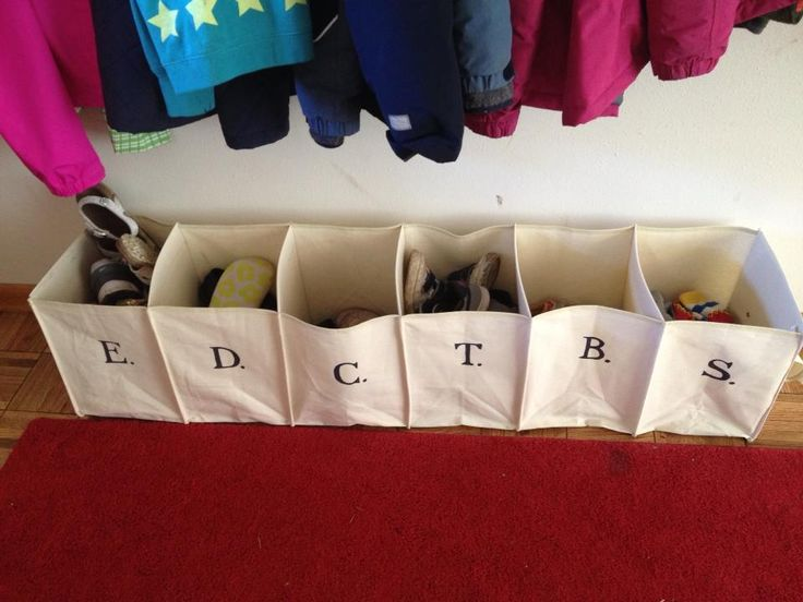 A friend of mine had the brilliant idea of repurposing a hanging closet organizer as a shoe bin for her family. Not something I have a use for, but thought it needed to find its way to Pinterest for others to be inspired by! @Kara Isker