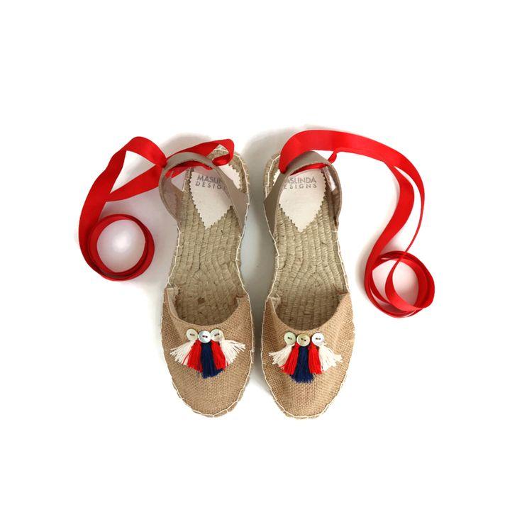 Accueil :: Femme :: Chaussures :: Espadrilles :: Espadrilles Beiges et Rouges