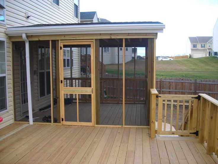 diy screened in porch wood