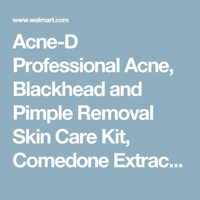 Acne-D Professional Acne, Blackhead and Pimple Removal Skin Care Kit, Comedone Extractor Tool Set, 5 Surgical-Grade Stainless Steel Skin Care Instruments - Walmart.com
