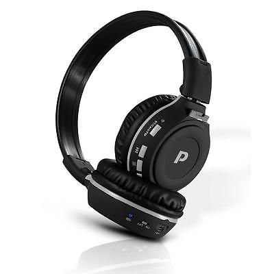 NEW Pyle PHPMP39 Bluetooth Wireless MP3 Headphones Built-in Mic SD Reader