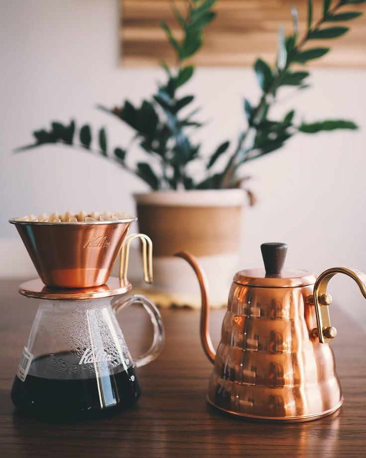 Beautiful photo of our #KalitaWave Tsunami 185 and #Hario Copper kettle.  Post…