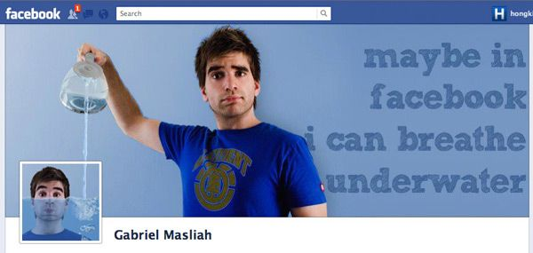 Gabriel Masliah. Is he on Facebook or underwater? No matter, he can be both on his Timeline Cover.