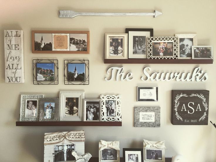 Gallery Wall #homedecor #rustic #arrow