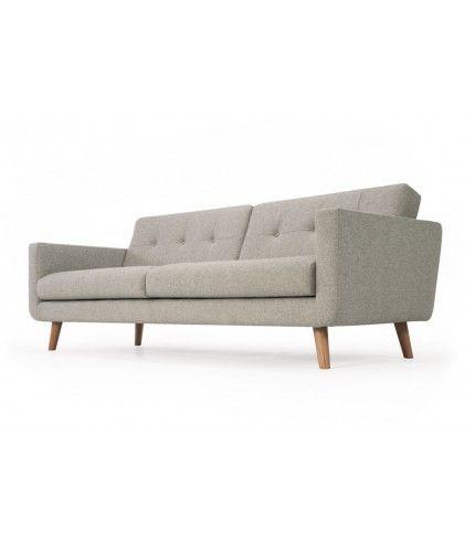 Conrad,  3-seater sofa, Andie Stone,  Oak Legs