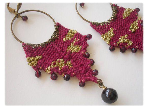 MADE TO ORDER handwoven long earrings/Boho от JewelryByFlorita