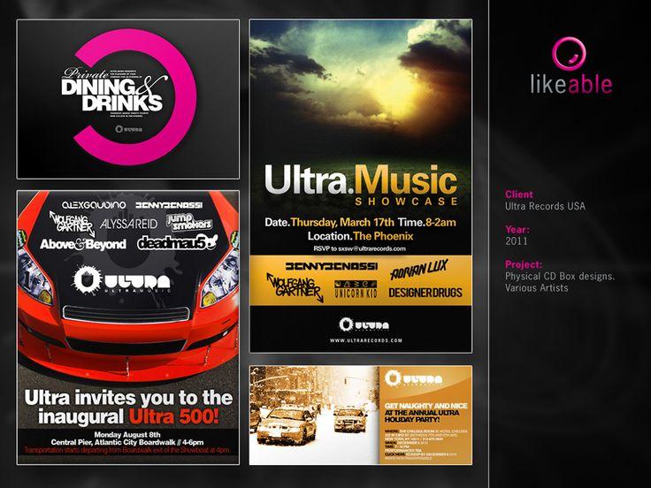 #LikeableDesign #MartijnKoudijs #GraphicDesign #CDCovers #CDDesign #UltraRecords www.likeable.nl