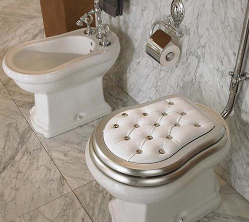 24 Totally Bizarre Decorated Toilets