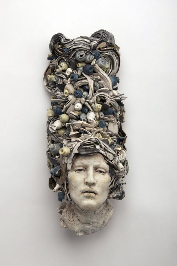 ☥ Figurative Ceramic Sculpture ☥  Cristina Cordova   Fruta Azul