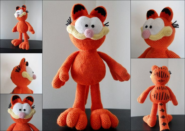 My crocheted Garfield for a friend