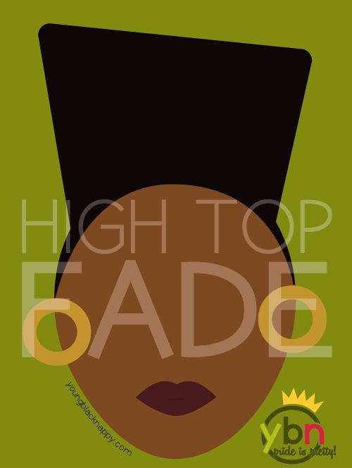 high top fade natural hairstyle