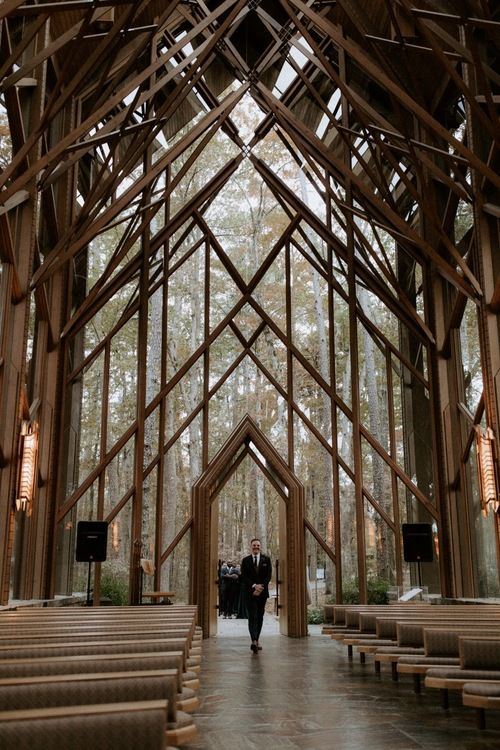 Intimate Wedding At Anthony Chapel In Hot Springs Arkansas In 2020 Anthony Chapel Arkansas Wedding Chapel Arkansas Wedding Venues